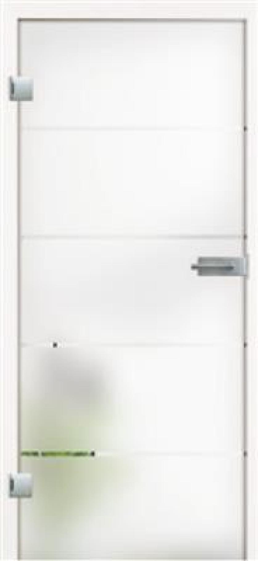 Tür aus Ganzglas